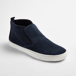dv Dolce Vita Roselyn Suede High-Top Navy Sneakers